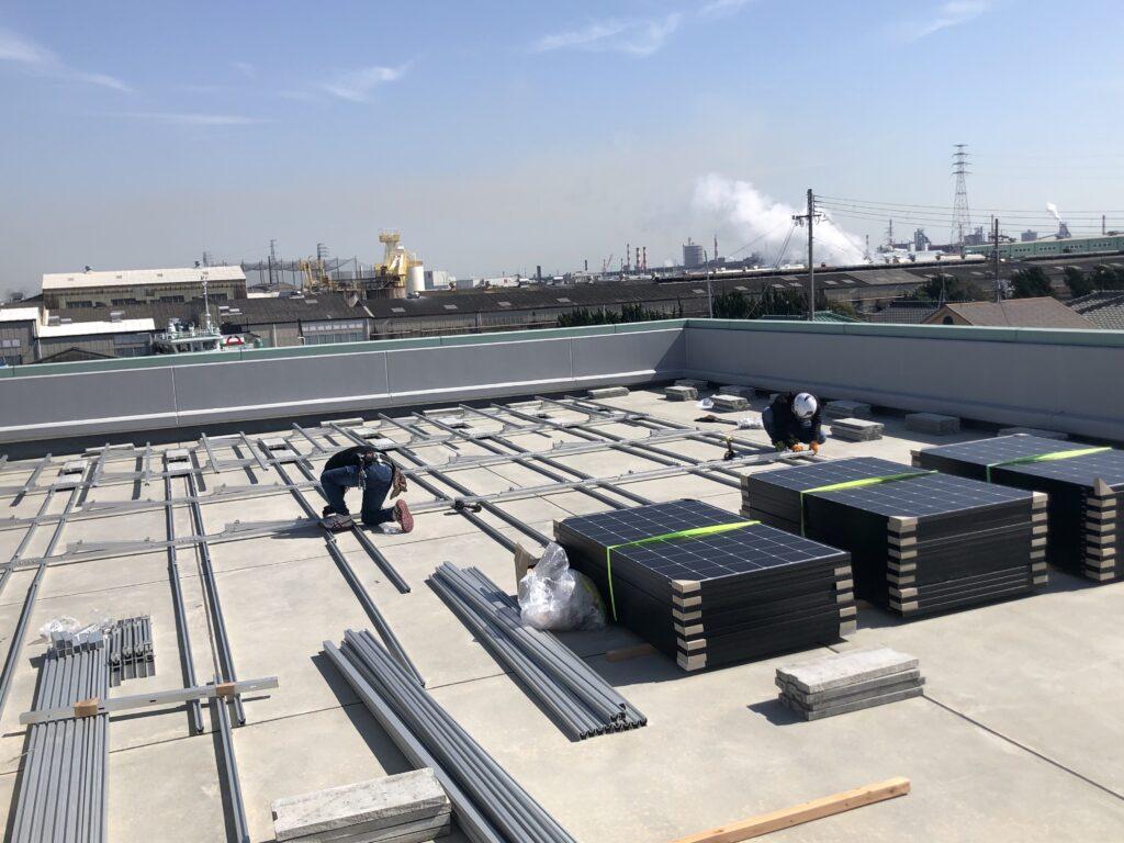 【工事部門】本社 自家消費型太陽光発電設備・蓄電池の設置